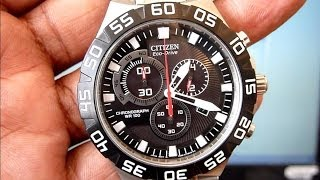 getlinkyoutube.com-How To Set Time, Calendar, Chrono, Low Battery Signal on CITIZEN Eco-Drive Wrist Watch