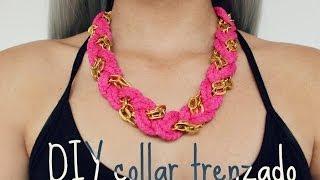 getlinkyoutube.com-DIY collar trenzado