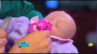 Bebê da Baby Reborn no Domingo Legal, no SBT!