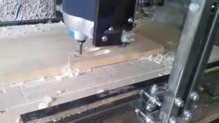 getlinkyoutube.com-Test freza Einhell 1200W in lemn