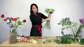 getlinkyoutube.com-How to make a mixed flower bouquet