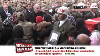 Şehit Astsubay Özdemir'i Binlerce Erzincanlı Son Yolculuğuna Uğurladı