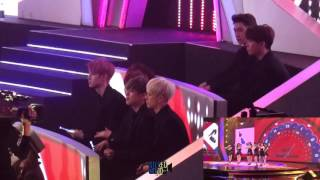 [직캠fancam]151231 MBC 가요대제전 GOT7 react to SNSD-lion heart