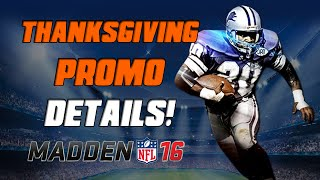 getlinkyoutube.com-Thanksgiving Promo Released! | Madden 16 Ultimate Team - 98 Overall Barry Sanders