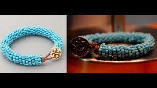 getlinkyoutube.com-DIY Tory Burch Inspired Beaded Bracelet | Retail:$58 - DIY:$6