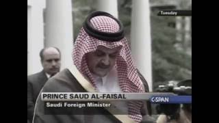Prince Saud Al-Faisal Talks About The 28 Redacted Pages - 7/29/2003 width=