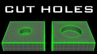 getlinkyoutube.com-Maya for Beginners tutorial - How to Cut Holes - High Poly / Subd Modeling