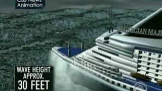 getlinkyoutube.com-Wave Hits Louis Majesty Cruise Ship