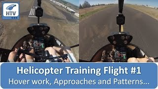 getlinkyoutube.com-Helicopter Training Flight # 1 - Hover work, Approaches and Patterns...