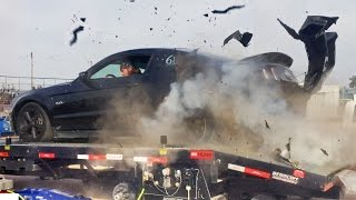 Mustang EXPLODES Tire on Dyno at 150MPH!