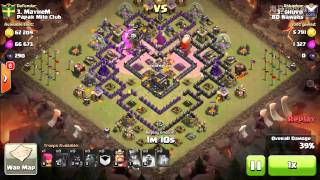 getlinkyoutube.com-lavaloon attack th9 max( BY SHOVO)