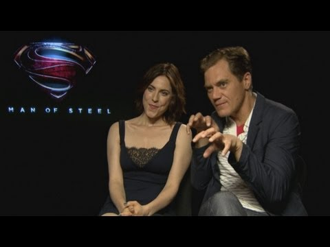 Man of Steel: Michael Shannon and Antje Traue talk playing villains