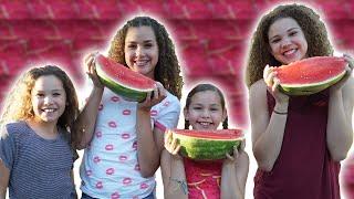 getlinkyoutube.com-Watermelon Eating Contest (Haschak Sisters)