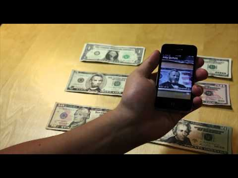 LookTel Money Reader iPhone app - real time object recognition