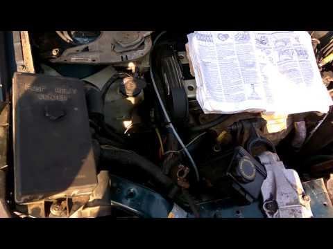 Opel Sintra ремень в обход компрессора кондиционера