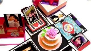 getlinkyoutube.com-Explosion box for Boyfriend | Scrapbook | Tutorial