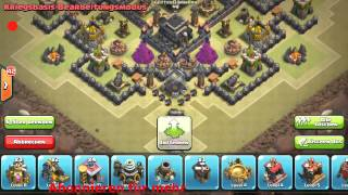 getlinkyoutube.com-Clash of Clans Anti All CW-Base Kriegsbase / Pokibase RH9 TH9