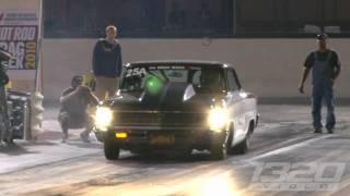 getlinkyoutube.com-FASTEST STREET CAR IN THE WORLD! Larry Larson runs 6.95 @ 209 on Drag Week!!!