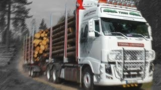 getlinkyoutube.com-Timber truck loading - Sweden