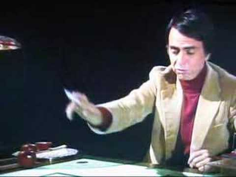 Carl Sagan gives a fun/simple lesson on how to think  about the 4th dimension