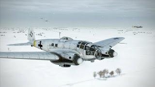 getlinkyoutube.com-IL-2 Battle of Stalingrad : LaGG3 intercepts Heinkels, Snowing