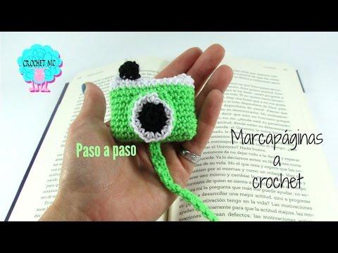 Tutorial marcapáginas a crochet - cámara fotográfica
