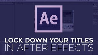 Lock Down Your Titles Using the Camera Tracker and Shadow Catcher in Adobe After Effects CC