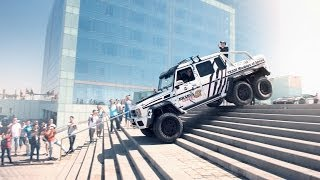 getlinkyoutube.com-Brabus Mercedes G63 AMG 6x6 700 in the 2014 Gumball 3000 - Team Betsafe