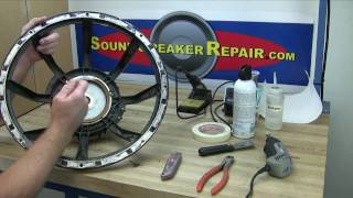 getlinkyoutube.com-How to recone and repair a speaker or woofer with a Pro Parts recone kit