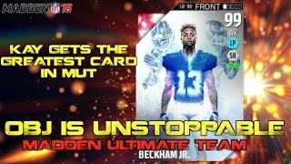 99 Odell Beckham Jr Is UNSTOPPABLE! Madden Ultimate Team 16!