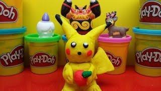 getlinkyoutube.com-Play-Doh Pokemon Make Playdough Pikachu Very Cute Play Doh