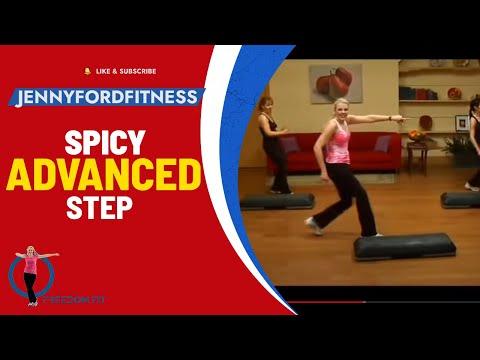 SPICY STEP - STEP AEROBICS - (Advanced) - JENNY FORD