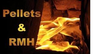 getlinkyoutube.com-Burning Pellets in a Rocket Mass Heater