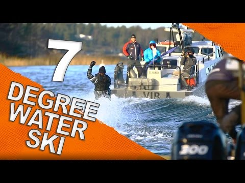 Water Skiing Behind a Military Boat in Sweden