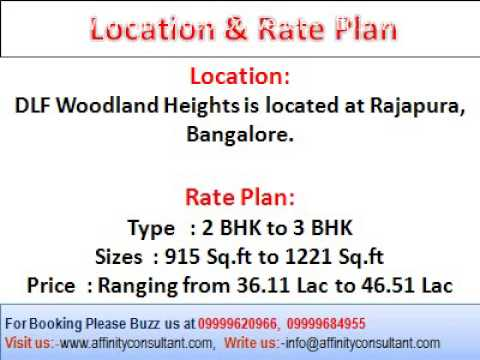 Book DLF Bangalore Property @ 09999620966