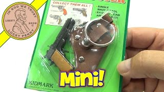 getlinkyoutube.com-Mini Cap Shooter Single Shot Pistol Toy Cap Gun With Key Ring Holster, Kidmark