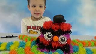 getlinkyoutube.com-Конструктор Банчемс делаем цветные животные из шариков Banchems set unboxing make toy animals