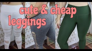 Best Cute & Affordable Leggings from Amazon!!! // FitMas Ep. 6 width=