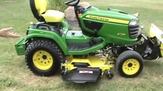 getlinkyoutube.com-2013 John Deere X738 Lawn And Garden Tractor With Snow Blade For Sale