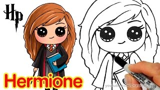 getlinkyoutube.com-How to Draw Hermione step by step Chibi from Harry Potter