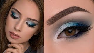 getlinkyoutube.com-Soft Blue Smokey Eye Makeup Tutorial