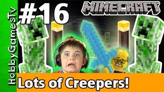 getlinkyoutube.com-Minecraft Floyd #16 Lots of Creepers! Xbox 360 Gameplay Hobbykids + Lego Floyd by HobbyGamesTV