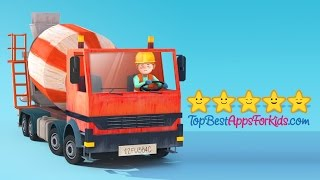 getlinkyoutube.com-Little Builders ★ Construction site vehicles for kids ★ New Update