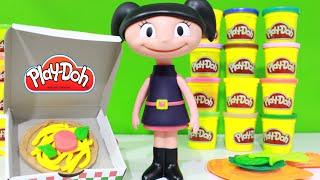 getlinkyoutube.com-O Show da Luna! Fazendo Pizza de Massinha Play-Doh Brinquedos em Portugues