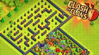 "getlinkyoutube.com-""THE MAZE BASE!"" - Clash of Clans - WEIRD TROLL BASE! Trolling Noobs in the Maze!"