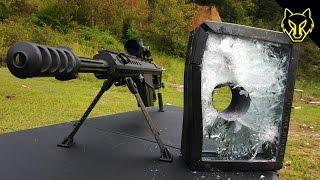 getlinkyoutube.com-Will Bulletproof Glass Stop A .50 Cal?