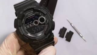 getlinkyoutube.com-How to Change a Strap on G-Shock GD-100 with NATO or Zulu using JaysAndKays Adapters #jaysandkays