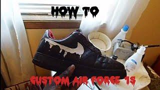 getlinkyoutube.com-Nike air force one custom!