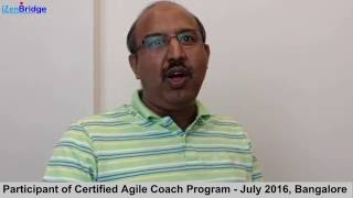 Participant - Satish : Certified Agile Coach Program - ICP-ACC