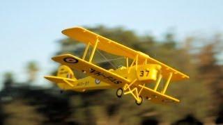 getlinkyoutube.com-New Dynam Tiger Moth Bi-Plane Review